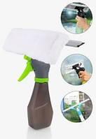 Щетка для мытья окон Easy Glass 3 in 1 Spray Window Cleaner | Щетка 3 в 1 с распылителем для мытья стекла