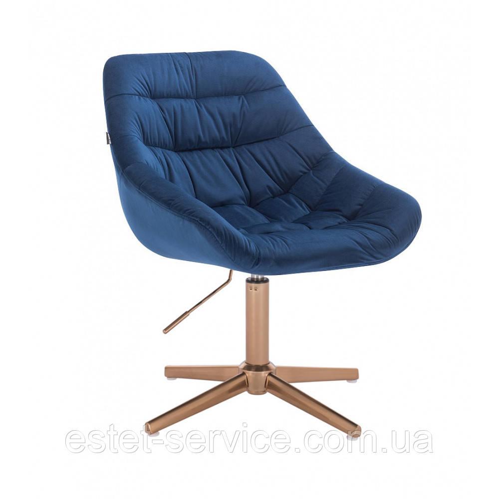 Кресло для мастера HROVE FORM HR825 на золотых стопках в ЦВЕТАХ велюр