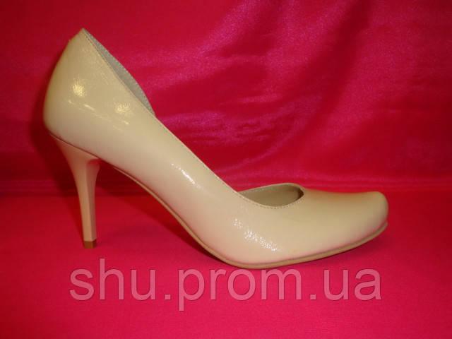 a7ed2c48e Свадебные туфли лаковые айвори деленка - Интернет магазин «Шузы для  невесты» в Киеве