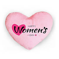 Светящаяся подушка Happy Women's day (розовая)