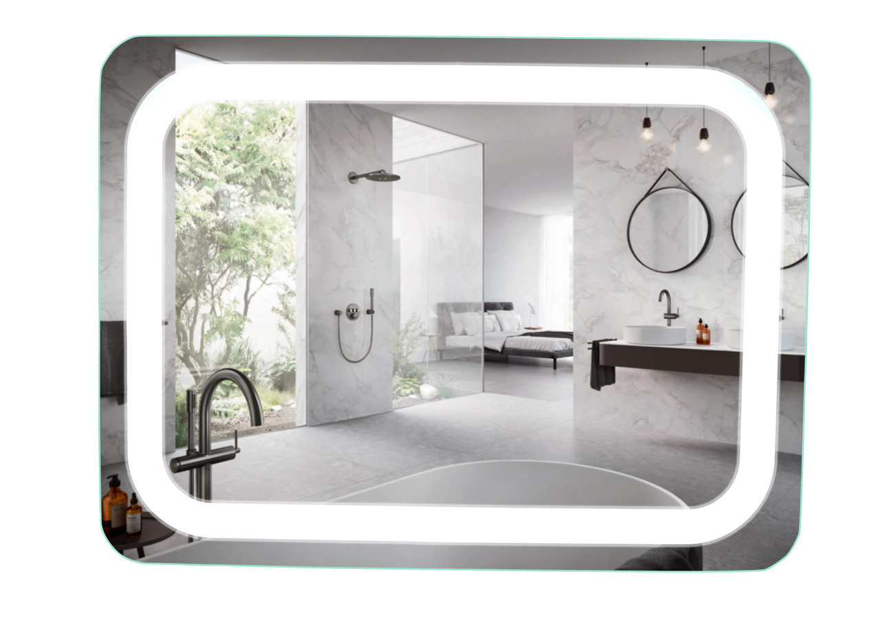 Зеркало с LED подсветкой 90х70