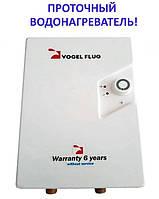 Электрический проточный водонагреватель Vogel Flug PGV 12PT/380 (12 кВт) над мойкой