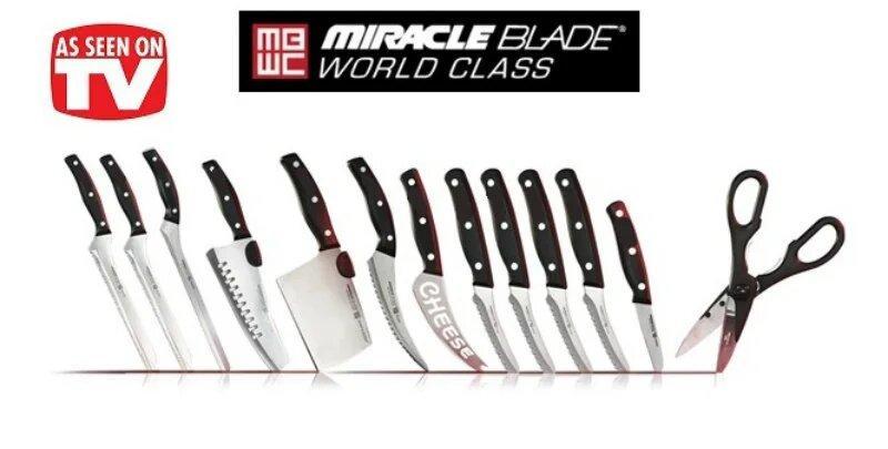 Набор ножей Miracle Blade - кухонные ножи Мирэкл Блэйд