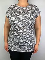 Красивая женская футболка батального размера (52-54) Турция