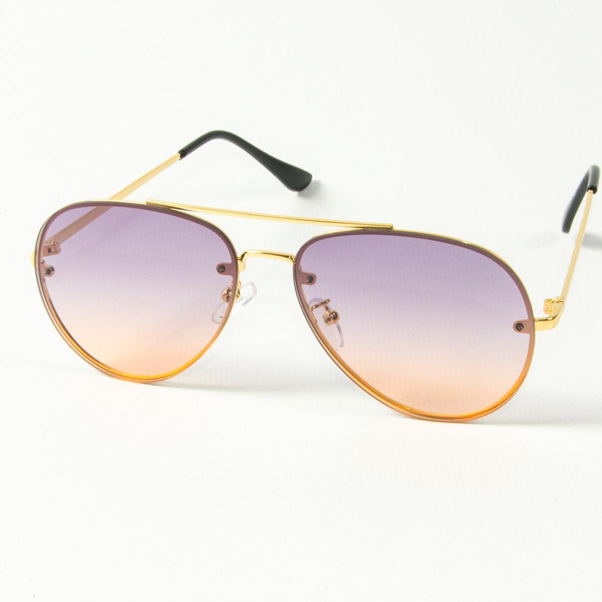 Солнцезащитные очки авиатор (арт. 80-665/6) фиолетовые
