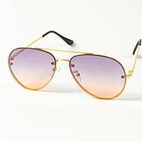 Солнцезащитные очки авиатор (арт. 80-665/6) фиолетовые, фото 1