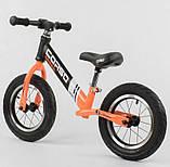 ✅Дитячий велобіг від (беговел) CORSO 24846, сталева рама, надувні колеса, фото 3