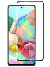 Защитное стекло Optima 3D Full Glue для Samsung A715 A71 Black