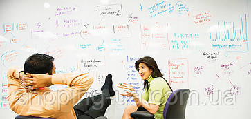 Самоклеющаяся пленка для рисования на стене маркером 45 х 180см + маркер 011, фото 3