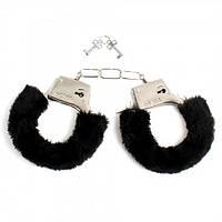 Меховые  наручники (Черный)