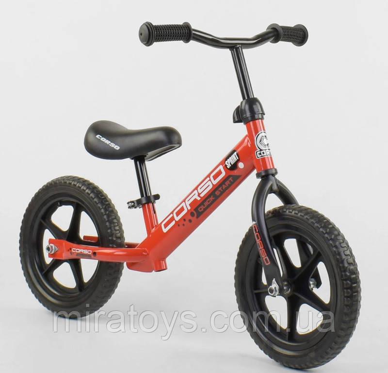 """✅Дитячий велобіг від (беговел) CORSO 32003, сталева рама, колесо 12"""" EVA (ПІНА)"""