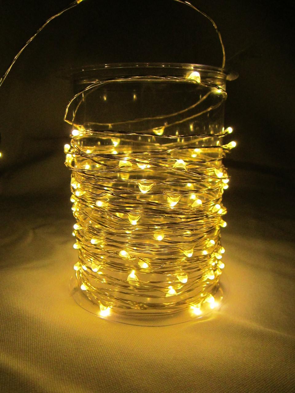 Гирлянда 10м LED желтая