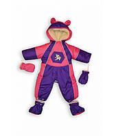 Детский зимний комбинезон (фиолетовый собачка), фото 1