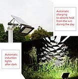 Уличный светодиодный прожектор на солнечной батарее 120 LED 3.7 В/10 000 мАч, фото 5