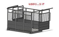 Весы для взвешивания скота (с раздвижными дверьми) Axis 4BDU-3000ХР -Б, НПВ: 3000 кг, 2500х3500мм