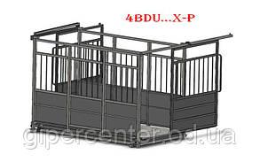 Весы для взвешивания скота (с раздвижными дверьми) Axis 4BDU-600ХР -Б, НПВ: 600 кг, 1250х1250мм