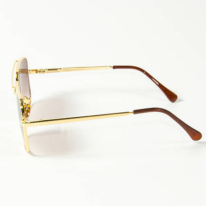 Оптом солнцезащитные квадратные очки  (арт. 80-667/2) коричневые, фото 2