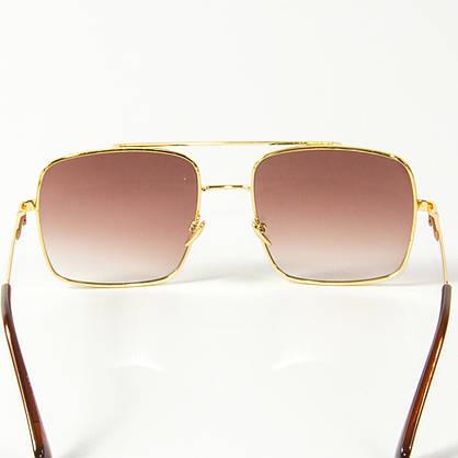 Оптом солнцезащитные квадратные очки  (арт. 80-667/2) коричневые, фото 3