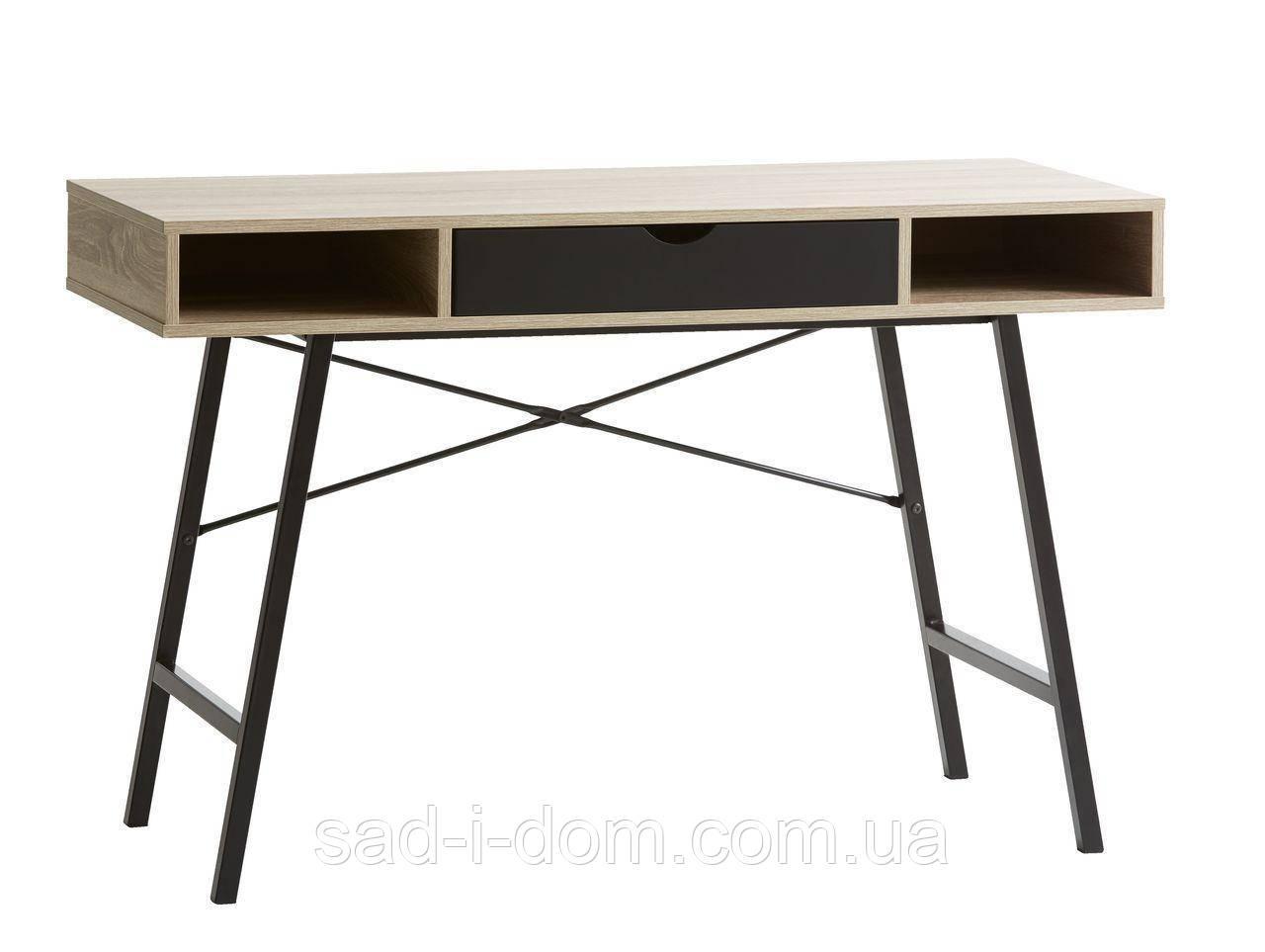 Стильный офисный стол с ящиком черным 120 см