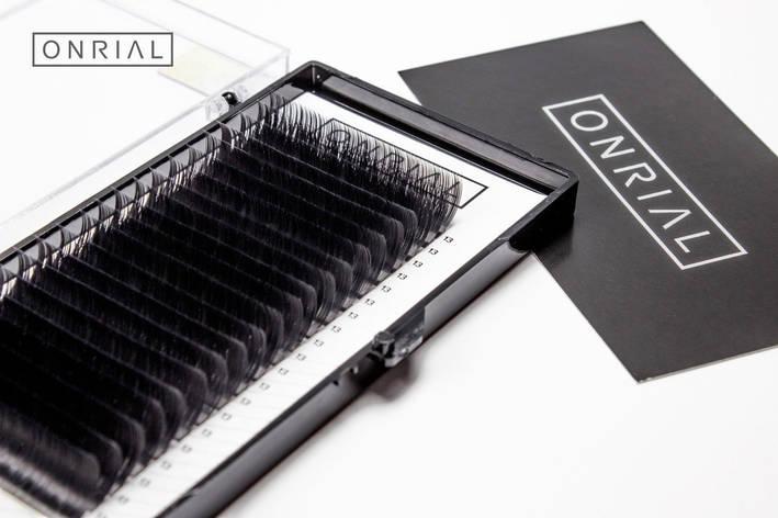 Ресницы черные D-0.10 - 10 мм ONRIAL, фото 2