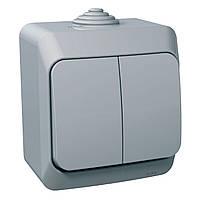 Вимикач двоклавішний Schneider Electric Cedar Plus сірий WDE000650