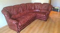 Перетяжка и реставрация мягких кожаных диванов