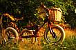 Велосипедная плетеная корзинка Trybike для беговела с кожаными ремнями (TBS-200-BSK), фото 4