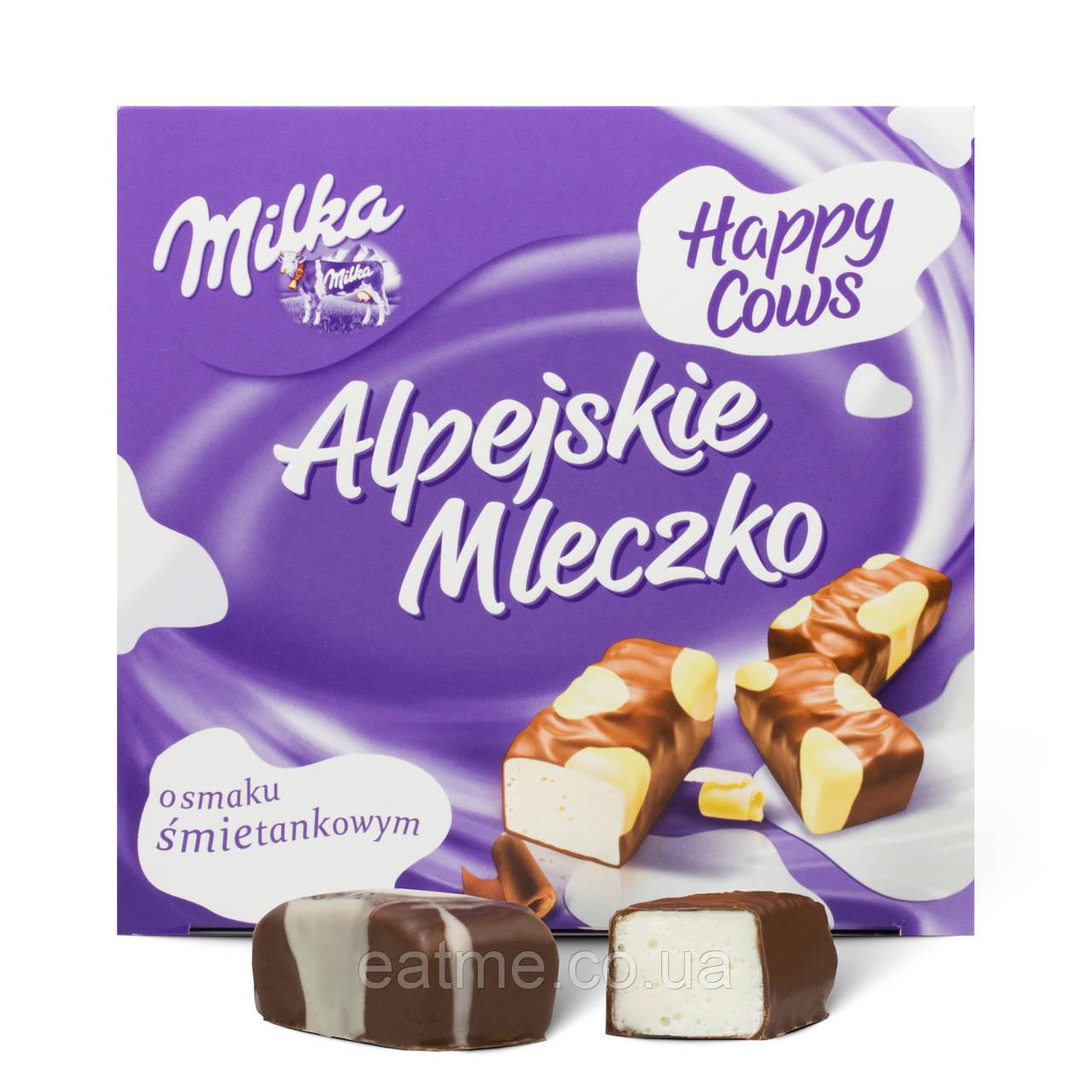 Milka птичье молоко со сливочным вкусом в белом и молочном шоколаде