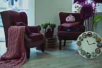 Кресло Ohaina с подлокотниками цвет слива с лавандой