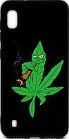 Чехол-накладка TOTO Cartoon Soft Silicone TPU Case Samsung Galaxy A10 Cannabis Black