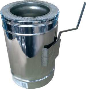 Кагла (регулятор тяги) термо ø 250/320 0.5 мм сталь нержавійка/оцинковка