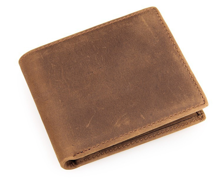 Шкіряний чоловічий компактний гаманець 8029B