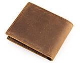 Шкіряний чоловічий компактний гаманець 8029B, фото 3