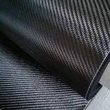 Углеродная ткань 280 гр/м2 3К twill 2/2 ш.100 см, фото 2