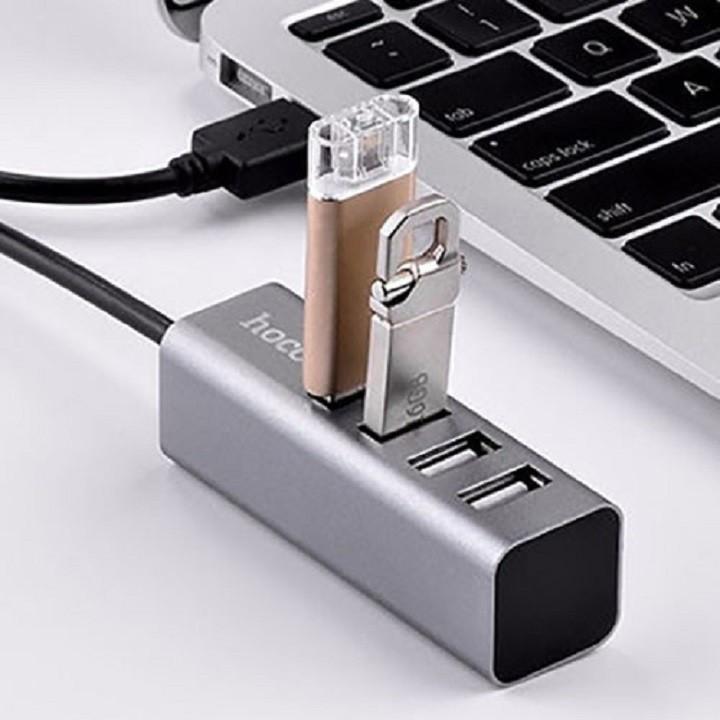 Металический HUB разветвлитель (концентратор) HOCO HB1 на 4  USB 2.0