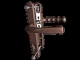 """Нажимний гарнітур """"VORNE"""" 28-92(200мм) з пружиною антрацит RAL 7016 для ПВХ дверей (дверная нажимная ручка), фото 2"""