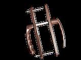 """Нажимний гарнітур """"VORNE"""" 28-92(200мм) з пружиною антрацит RAL 7016 для ПВХ дверей (дверная нажимная ручка), фото 4"""