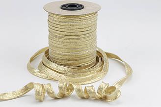 Кант  золото (глиттер) 100% хлопок № Кн-23