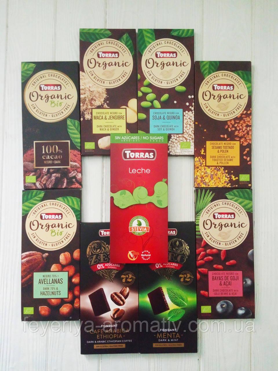 Шоколад без сахара и глютена Torras 100гр (Испания)