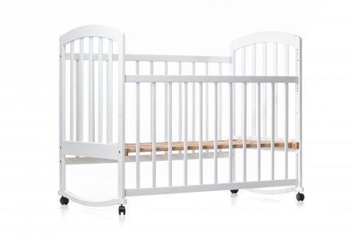 Детская кроватка « ЛАМА » качалка белая