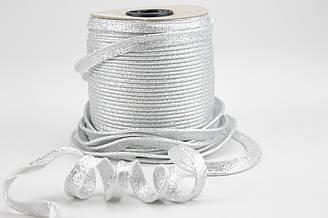 Кант  серебро (глиттер) 100% хлопок № Кн-24