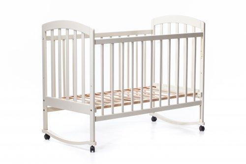 Детская кроватка « ЛАМА » качалка ваниль