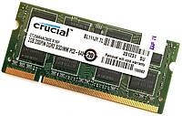 Оперативная память для ноутбука Crucial SODIMM DDR2 2Gb 800MHz 6400s CL6 (CT25664AC800.K16F) Б/У, фото 1