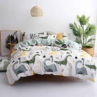 Комплект постельного белья Динозавры (двуспальный-евро) Berni