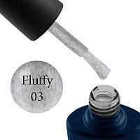 Гель-лак NUB Fluffy Gel № 3 (белый, с серым флоком), 11.8 мл