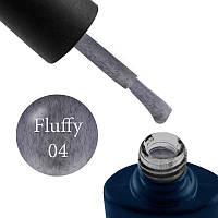 Гель-лак NUB Fluffy Gel № 4 (серый, с серым флоком), 11.8 мл