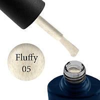 Гель-лак NUB Fluffy Gel № 5 (сливочно-кремовый, с серо-розовым флоком), 11.8 мл