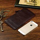 Шкіряний гаманець на змійці Atomy 8034C, фото 4