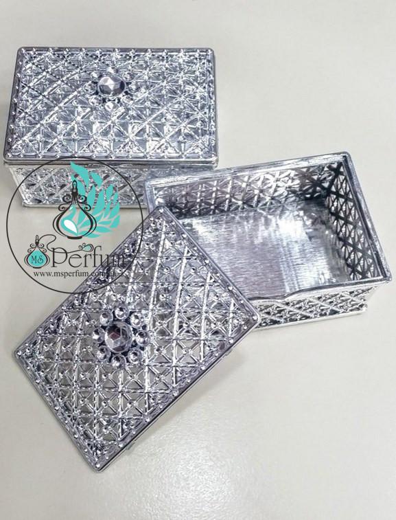 Подарочная коробка серебро