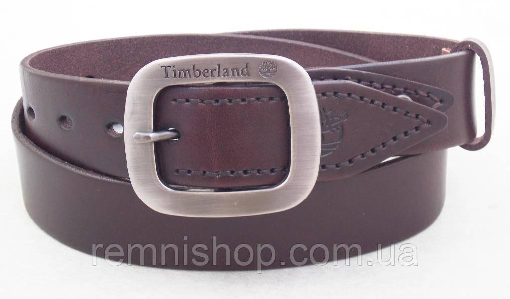 Кожаный ремень Timberland коричневый